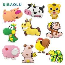 Leuke Cartoon Chinese Zodiac animal siliconen koelkastmagneet souvenir koelkast koelkasten magnetische Kids home decor decoratie speelgoed