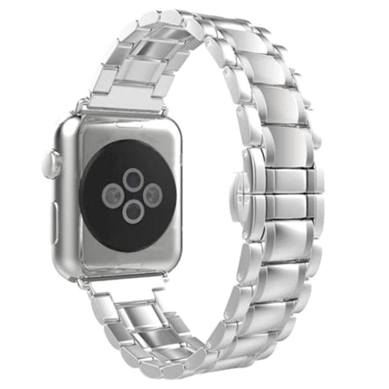 все цены на YCYS-Replacement Wrist Bracelet Sport Band Strap For Apple Watch 38mm/Arc-shaped B/Sliver онлайн