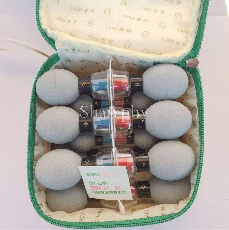 18 шт. серебряный корпус Магнитная терапия присоска бытовой вакуумный Акупрессура иглоукалывание и прижигание набор для ухода за здоровьем