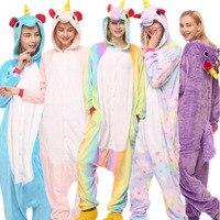 Unicorn Onesie Pajamas Women Men Adult Overalls Animal Costume Party Suit Fashion Blue Purple Pink Rainbow
