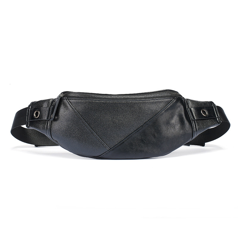 Waist Bag For Women&Men High-quality Waterproof PU Crossbody Shoulder Bags Fashion Black Fanny Pack Casual Travel Boys Chest Bag
