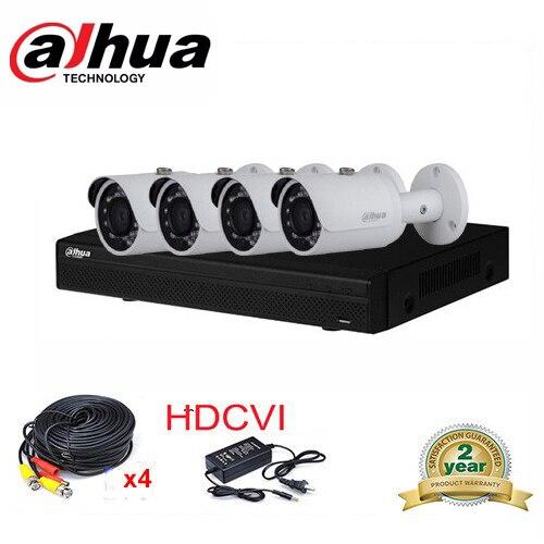 Dahua 4CH 2MP HCVR7104H-S2  KIT 1080P HD-CVI DVR 4PCS DH-HAC-HFW1100S 960P Vandal-proof IP67 IR HDCVI bullet Camera цена и фото