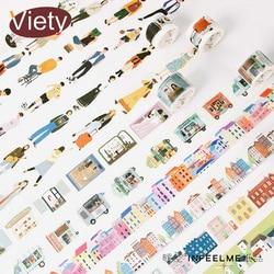 1,5-30*5-7 M Das gute leben washi band DIY dekorative scrapbooking masking klebeband label aufkleber klebeband schreibwaren