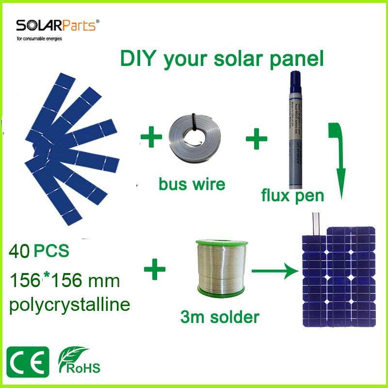 Solarparts DIY solar panel kits with 156*31.2mm polycrystalline solar cell use flux pen+tab wire+bus wire for 25W Solar panel . baja 5b dirt tire set 2pc front 2pc rear