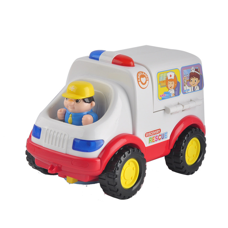 Daddy Chen Car Styling Doctor Emergency Model With Light And Music Electric Car Baby Learnign&educational Ambulance Toy