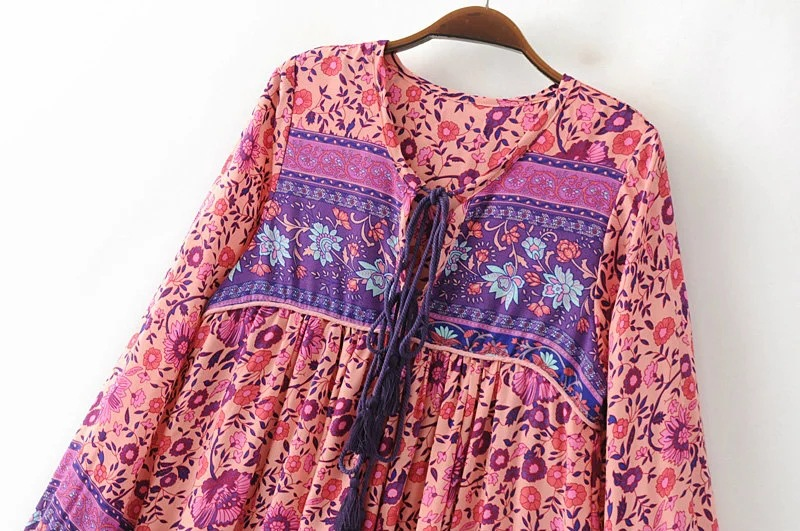 Vestido manga longa hippie – Vestidos de noche elegantes para ti