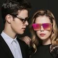 2017 new estilo da marca do vintage óculos de sol dos homens sem aro de lente plana Moldura quadrada Óculos de Sol Das Mulheres Oculos Gafas HD lnes UV400 L5252