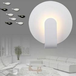 Okrągłe 12W LED kinkiet lampka nocna kinkiet korytarz hotel inżynieria kreatywny aluminium kinkiet producenci sprzedają