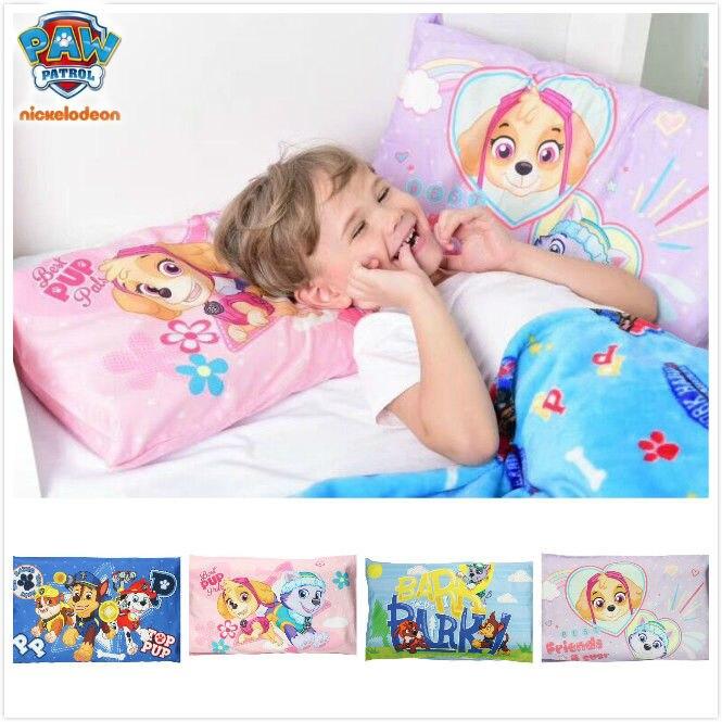Nouveau véritable pat' patrouille 100% taie d'oreiller en coton garçon fille étudiant taie d'oreiller chase Skye everest parc d'été enfants jouet pour enfants