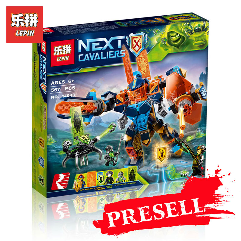 Lepin 14043 567Pcs Classic Movies Series Knights of the future high-tech magic armored Ares Building Blocks Bricks Model 72004