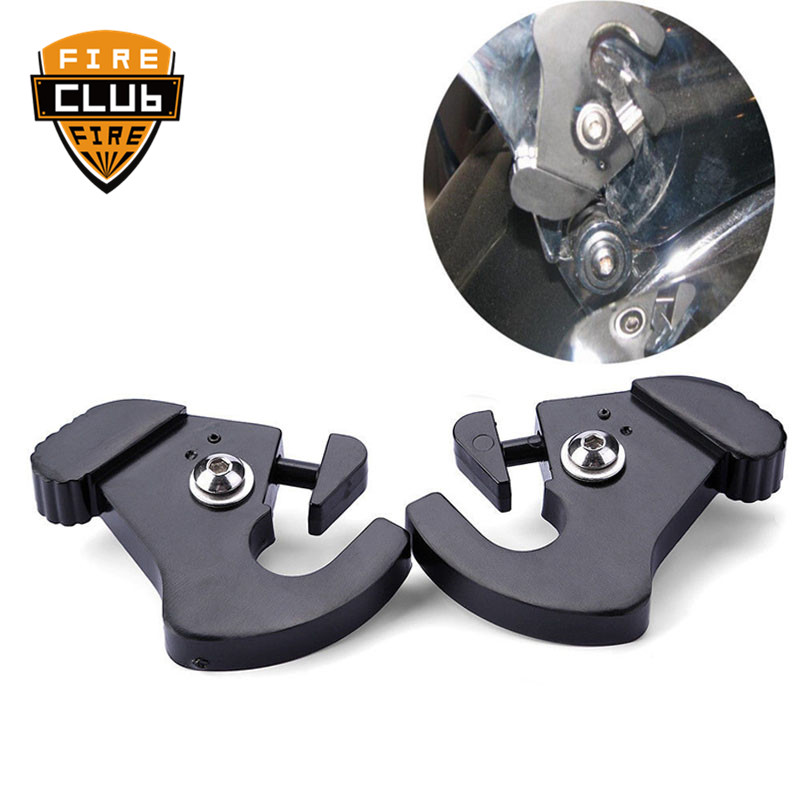 For Harley Electra Road Street Glide Road King Detachable Rotary Sissy Bar Luggage Rack Docking Latch Clips Left&Right
