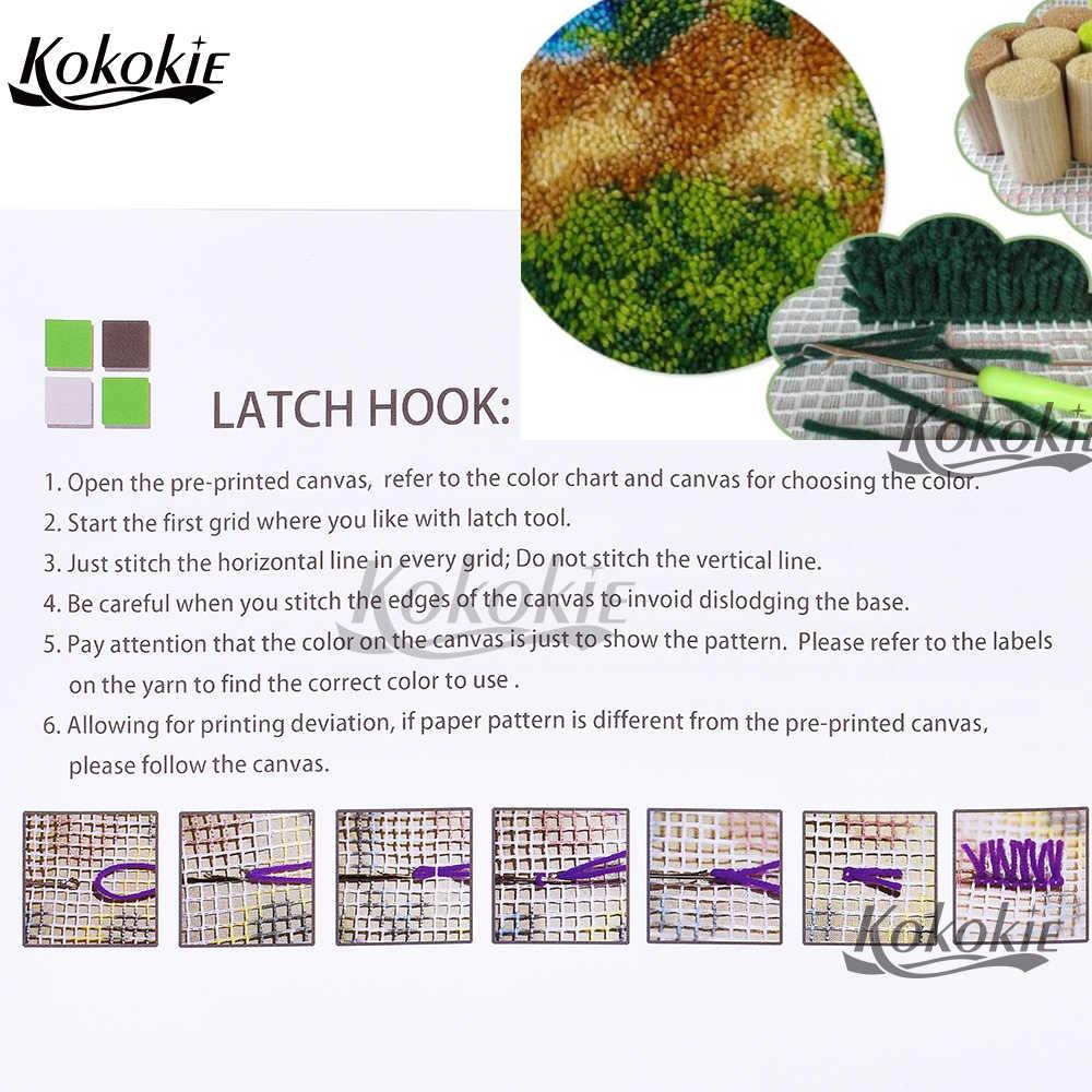 FAI DA TE gancio del fermo tappeto di tela 3d stampa 4 night cat vloerklee tapijt foamiran per accessori cucito knooppakket crochet tapis