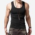 Моды для мужчин Танк Tee Shirt Хлопок Вязание Жилет Сексуальная Похудения Тренажеры Фитнес Мужской Жилет Топы Горячие Предложения