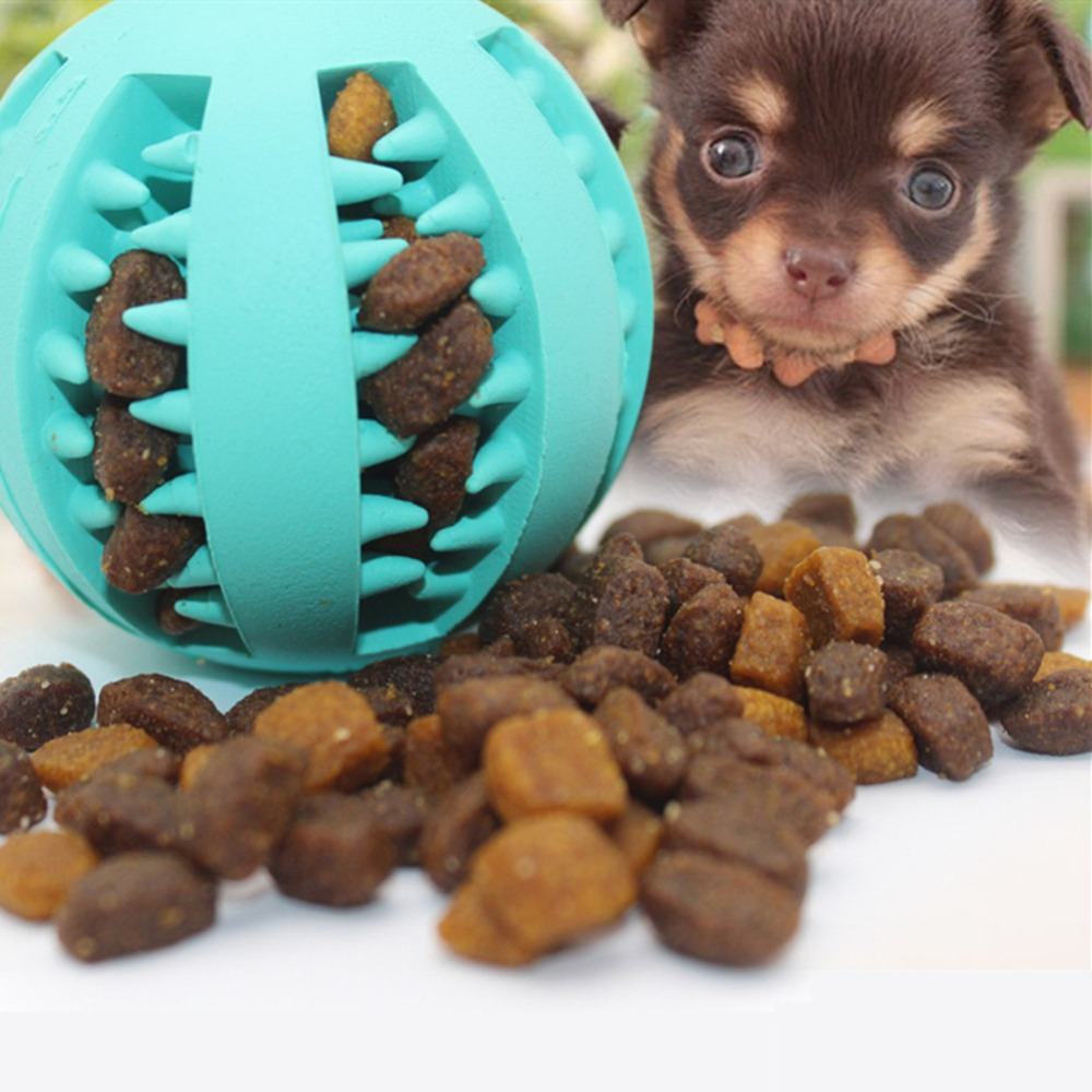 AAA Funny Pet Dog Toys Nontoxic Bite Resistant Toy Ball For Pet Dogs Puppy Dog Food Treat Feeder Tooth Cleaning Ball Chihuahua