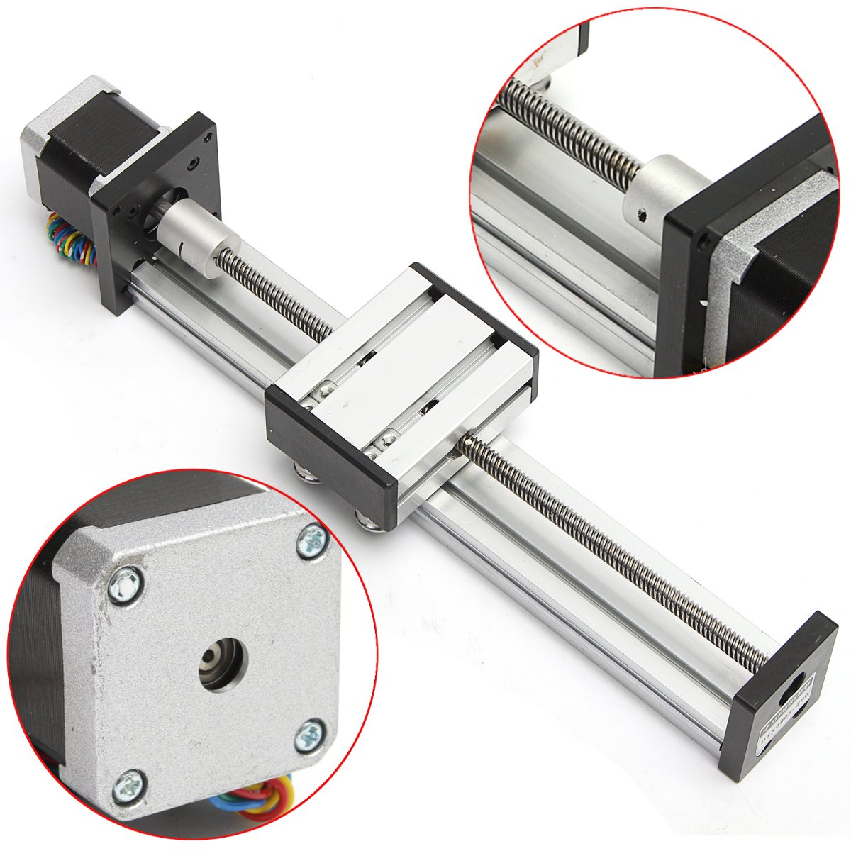NEW 200mm Slide Stroke CNC Linear Motion Lead Screw Slide Stage Stroke 42 Actuator Stepper Motor For Engraving Machine funssor 50mm 150mm slide stroke cnc z axis slide linear motion nema17 stepper motor for reprap engraving machine