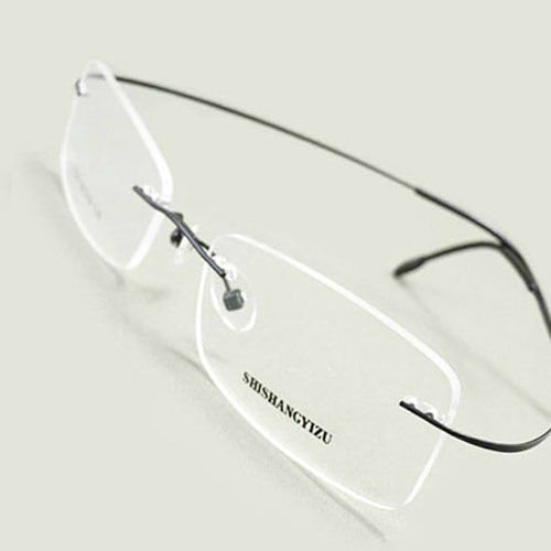 b43106735c5 Black Ultra Light Thin Half Rim Optical Prescription EYEGLASSES FRAMES Men  Glasses RX Spectacle 830-in Eyewear Frames from Apparel Accessories on ...