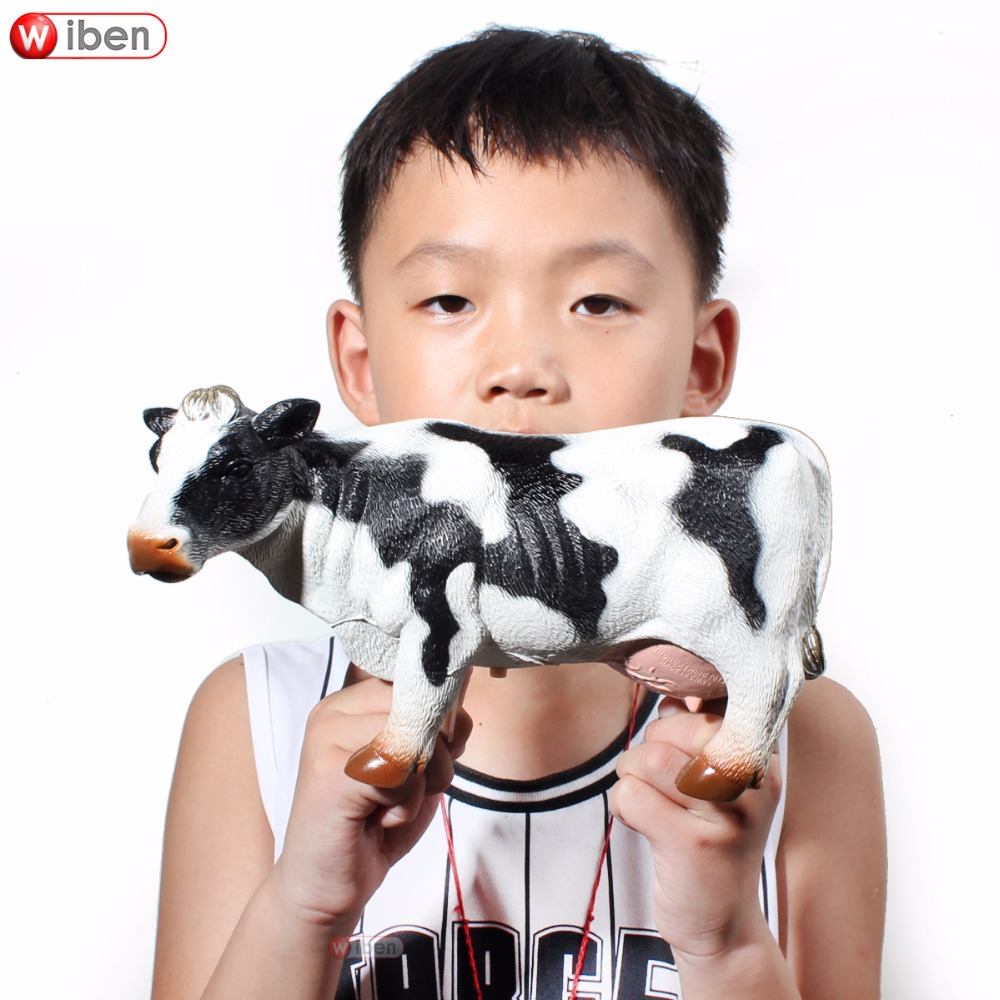 Wiben Big Animal Model Toy Horse Pig Cattle Sheep Soft Plastic Action & Toy Figures Boys Christmas Gift pig acupuncture model animal acupuncture model