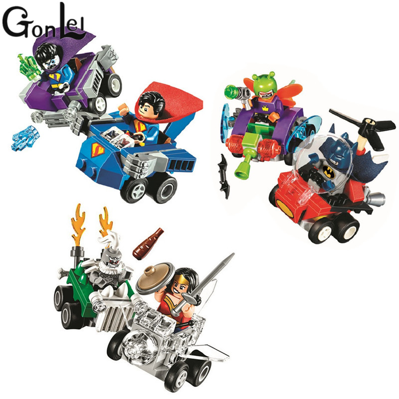 GonLeI 10667 10668 10669 Bela DC Super Heroes Wonder Woman Superman Building Batman Block Bricks 76068 76069 76070 Lepin loz dc comics super heroes mini diamond building block batman