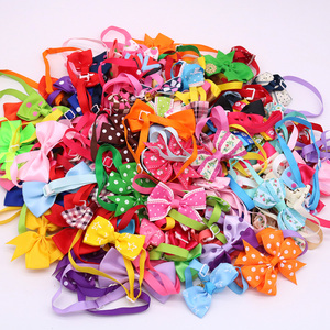 Image 2 - 120pcs Mixed Styles Pet Puppy Dog Cat Bow Ties/Bowties Adjustable Dog Grooming Bows Accessories Dog Ties Pet Products