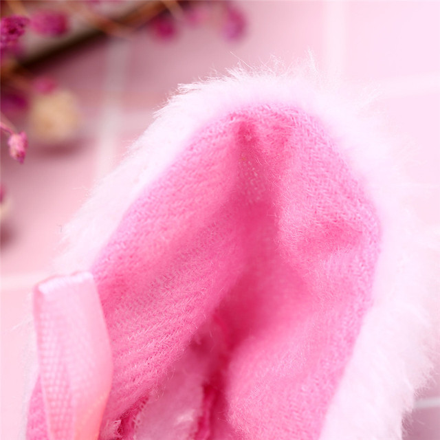 Cat Ears With Bell Hair Clip Cosplay Party Fox Long Fur Costume Hair Clip Halloween Gift Hair Accessory White Black Color 4