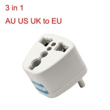 2PCS Universal 3 in 1 AU US UK to EU AC Power Plug Travel Adapter US to EU Outlet Converter Socket Charger Adapter Converte цены онлайн