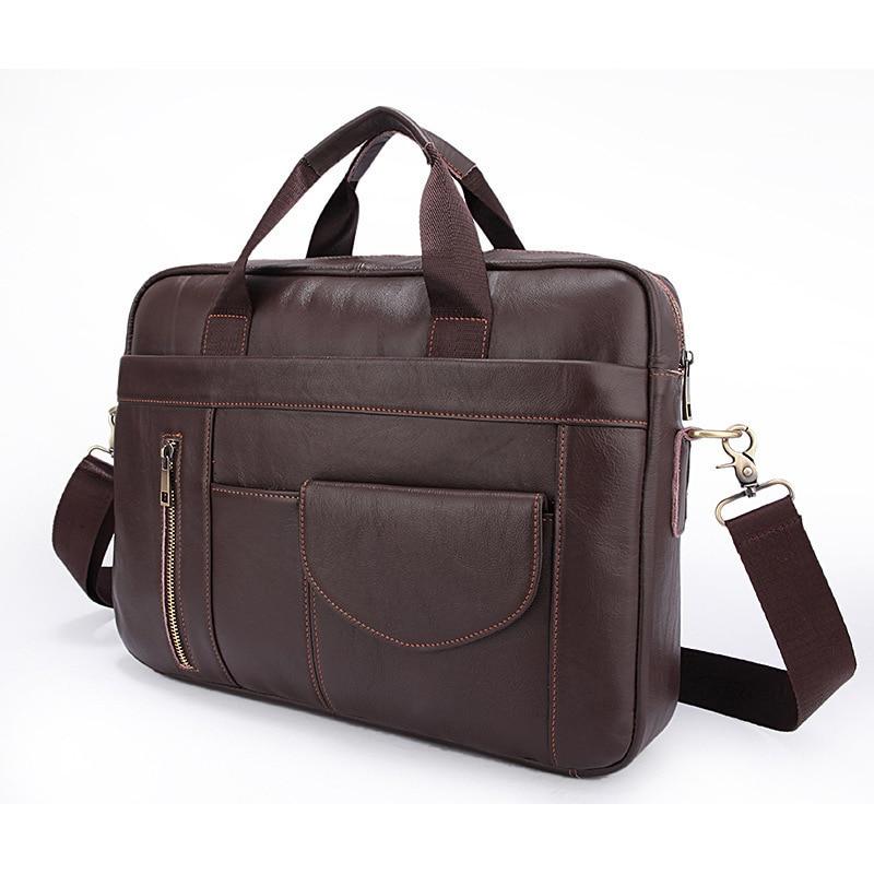 2018 Neue Vintagre Männer Aktentasche Aus Echtem Leder Mann Taschen Mann Business Laptop Luxus Marke Berühmte Gute Qualität Business Aktentasche Schnelle Farbe