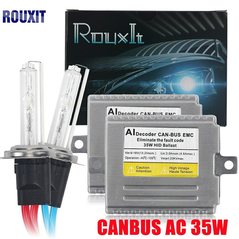 Xénon H7 Canbus sans erreur AC HID Kit de Conversion EMC Ballast phares antibrouillard 12 V H1 H3 9005 HB3 9006 D2S HB4 H11 35 w