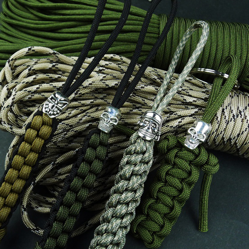 Skull Pendant-Buckle Accessories Charms Paracord Beads Knife Lanyards Survival Metal
