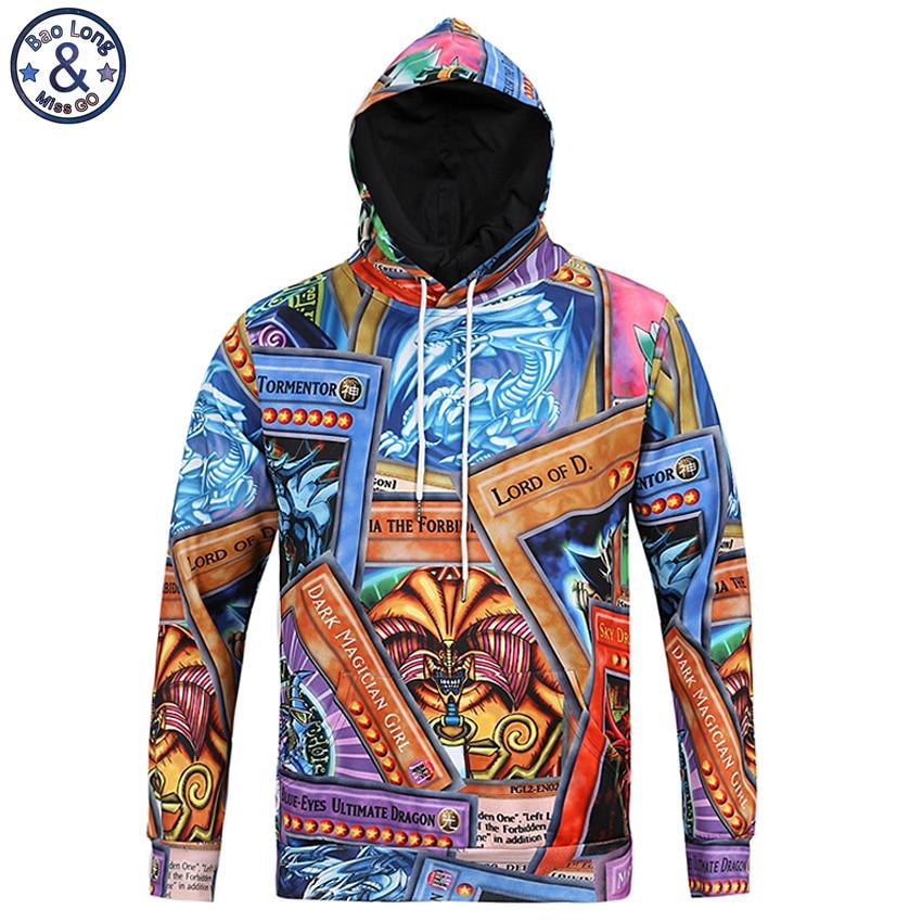 90b5a27f2740b Mr. baolong América moda juventud hip hop Sudadera con capucha hombres 3D  ambos lados dibujos animados impreso hombres Sudadera con capucha  drawstring ...