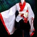 Trajes de cosplay kimono japonés blanco tradicional japonesa lolita vestido de fiesta más tamaño personalizado venta al por mayor