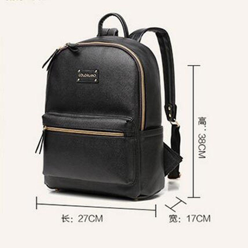 COLORLAND Leather Backpack baby diaper bag nappy bags Maternity mommy mummy Changing Bag wet infant for babies care organizer