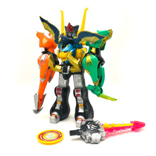 Kids Best Gifts Assembly Dinozords 5 In 1 Dinosaur Rangers Megazord Action Figures Robot Deformation Toy