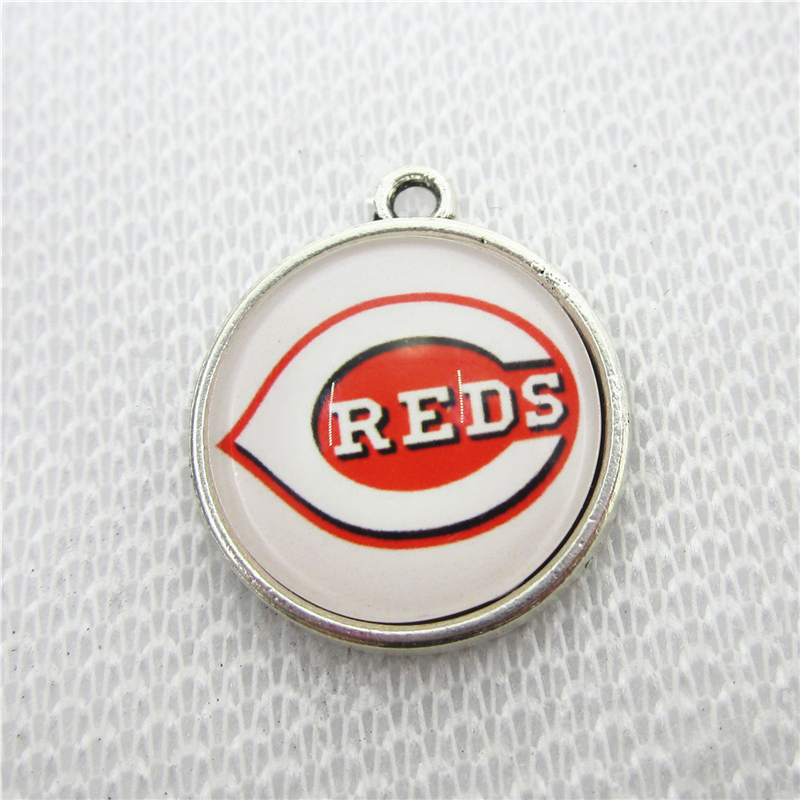20pcs US Cincinnati Reds Dangle Charms Hanging Charm Baseball Sport DIY Bracelet&Bangles Jewelry Accessory Charms