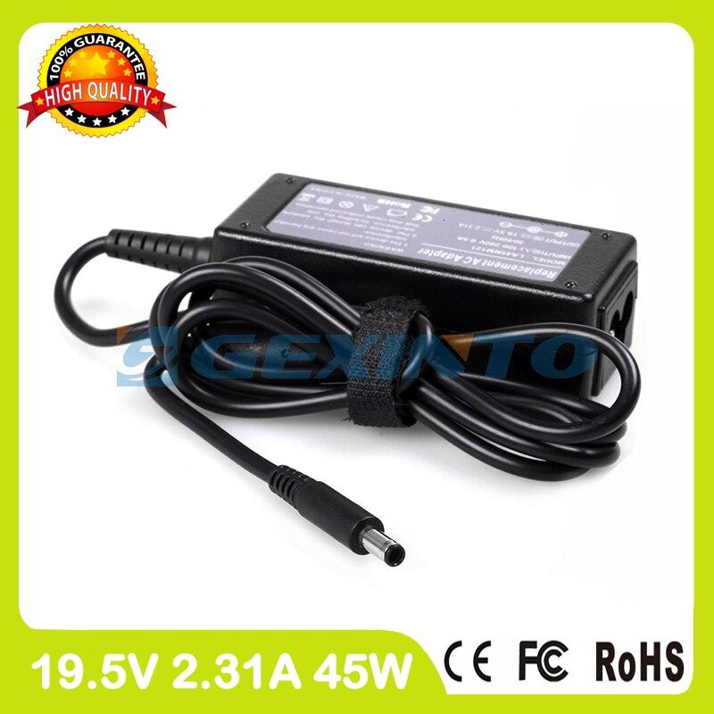 Adaptador de energia ca 19.5 v 2.31A 14 45 w carregador portátil para Dell Inspiron 3451 3452 3473 3476 5452 5458 5481 5482 7437 13z 5378 Toque