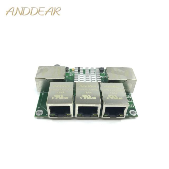 Industrial grade mini micro low power 3/4/5 port 10/100/1000Mbps RJ45 Gigabit network switch module gigabit   network switch