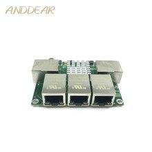 เกรดอุตสาหกรรม mini micro low power 3/4/5 พอร์ต 10/100/1000 Mbps RJ45 Gigabit เครือข่ายโมดูลสวิทช์เครือข่าย gigabit switch