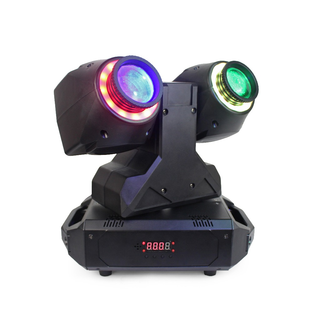 SMD 5050 RGBW 30W double head LED beam moving head led stage light for disco night club wedding event moving head led beam light tiptop tp l682 crazy beam 40 fusion led moving head beam light 40 watt quad rgbw with led ring dmx512 for stage light disco rgb