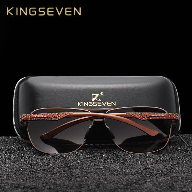 KINGSEVEN 2018 Brand Men Aluminum Sunglasses HD Polarized UV400 Mirror Male Sun Glasses Women For Men Oculos de sol