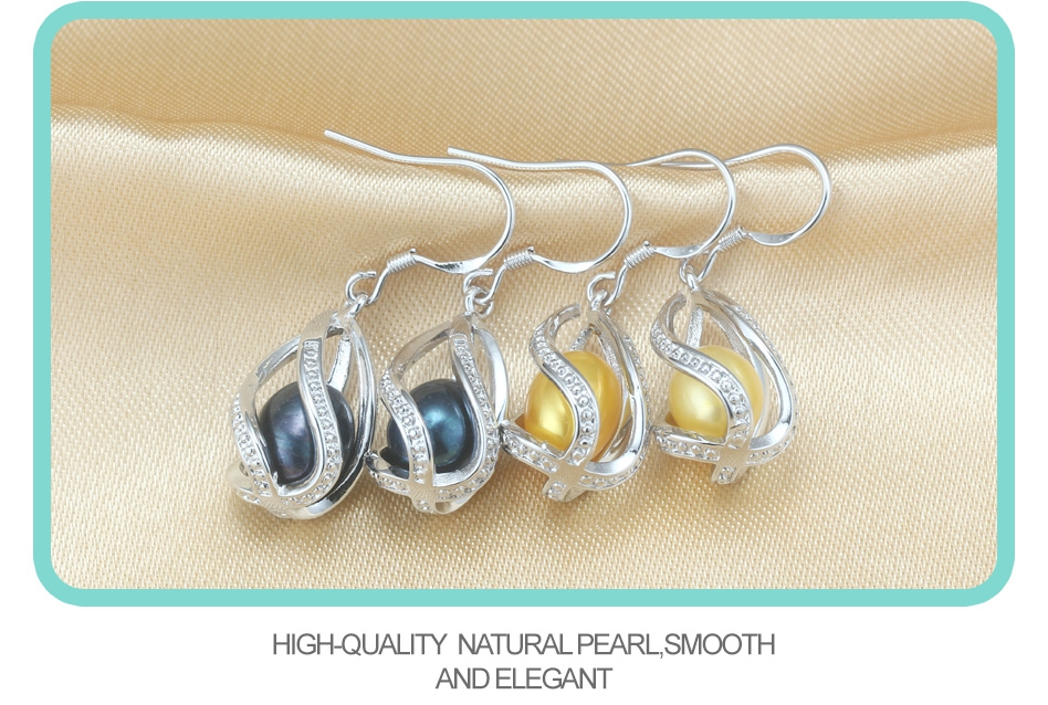 HTB1xIItMyrpK1RjSZFhq6xSdXXaZ - Natural Freshwater Pearl Drop Earrings For Women Elegant 925 Sterling Silver Anti allergy Earrings DIY Cage Jewelry 2019 cauuev