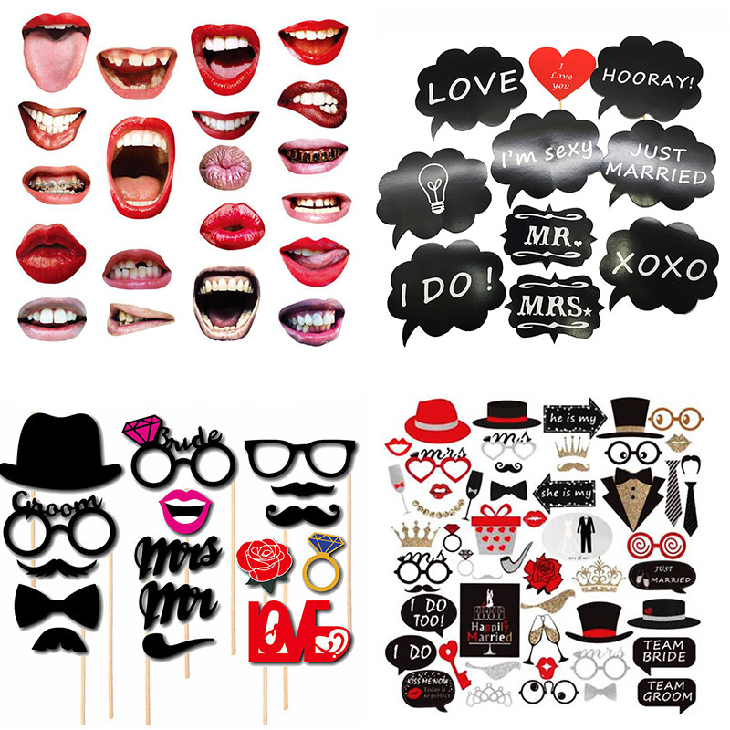 Bachelorette Party Funny Photo Booth Props Wedding Decorations Moustache Glasses Photobooth Props Hen Night Bride To Be Favor