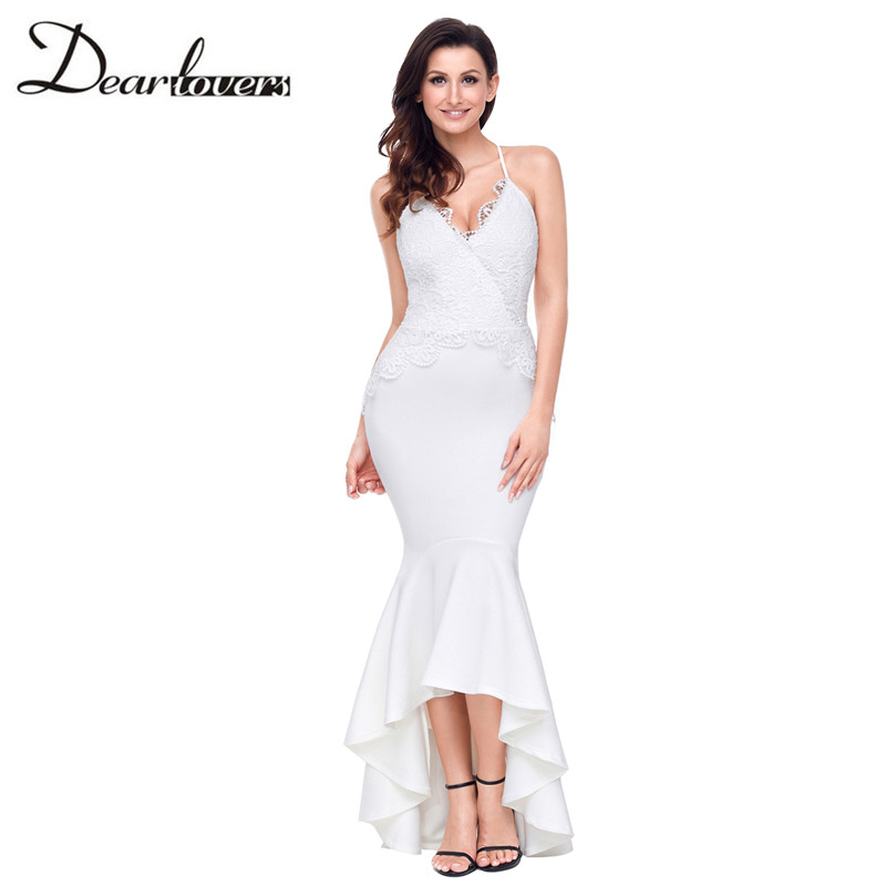 Dear lovers New Sexy Women Party Dresses Black Crisscross Spaghetti Straps  Hi low Mermaid Dress LC61842 White Red-in Dresses from Women's Clothing on  ...