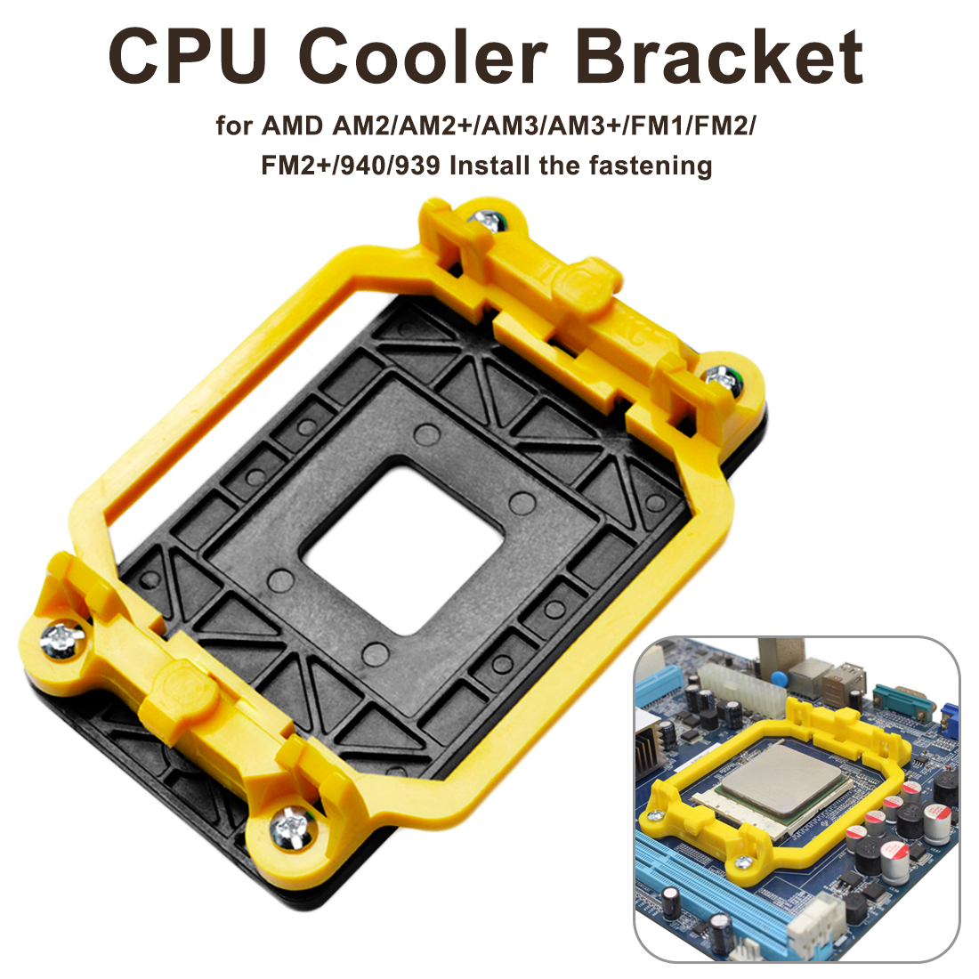 1PCS CPU Cooler Cooling Retention Bracket Mount For AMD <font><b>Socket</b></font> AM3 AM3 <font><b>AM2</b></font> <font><b>AM2</b></font> <font><b>940</b></font> CPU Radiator Fan Folder Base image