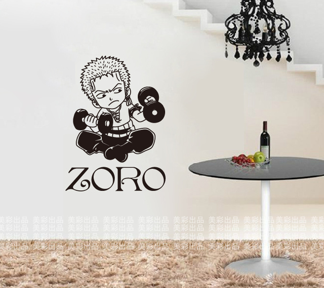 dctal zoro wall sticker one piece car japanese cartoon decal vinyl