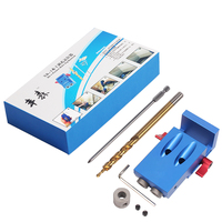 Mini Kreg Style Pocket Hole Jig Kit System 9 5mm Step Drill Bit For Wood Working