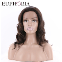 EUPHORIA Human Hair Lace Front Wig Loose Wave Natural Color Brazilian Remy Hairpiece For Women Free Shipping Salon Hair