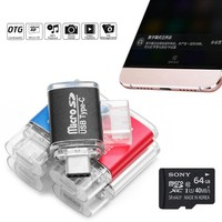 cell phone Mini Type C USB 3.1 SD OTG Adapter TF Memory Card Reader For Cell Phone plug and play Aluminum Alloy (5)