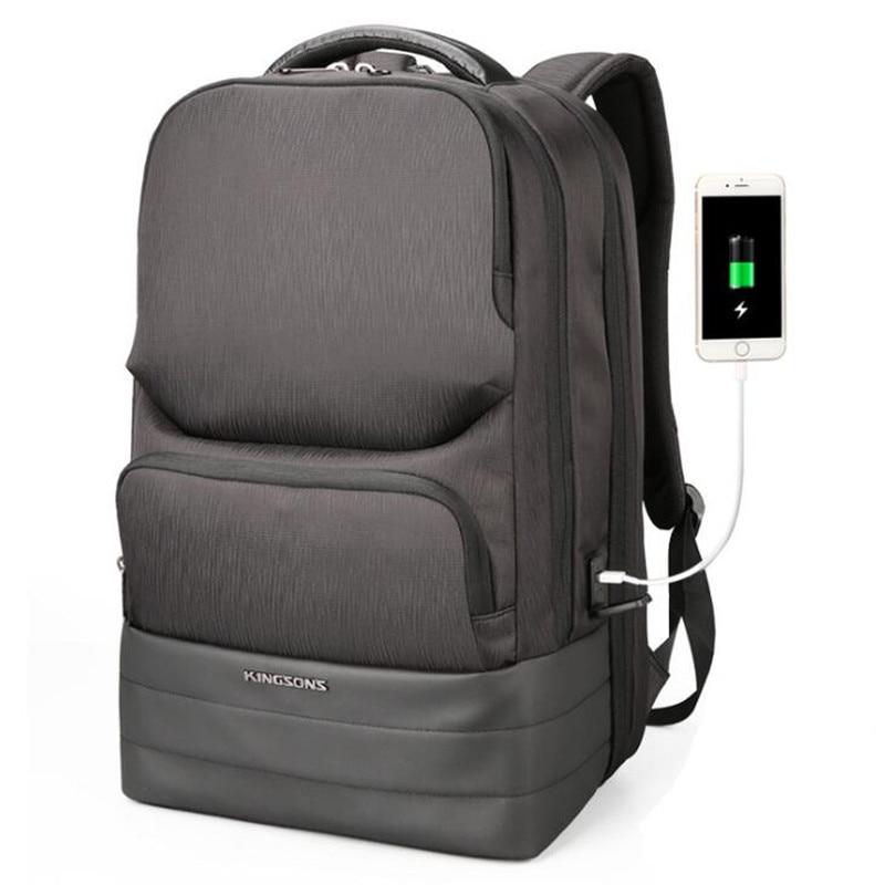 15 6 Inch Laptop Backpack USB Charging Anti Theft Backpack Men Travel Backpack Waterproof School Bag