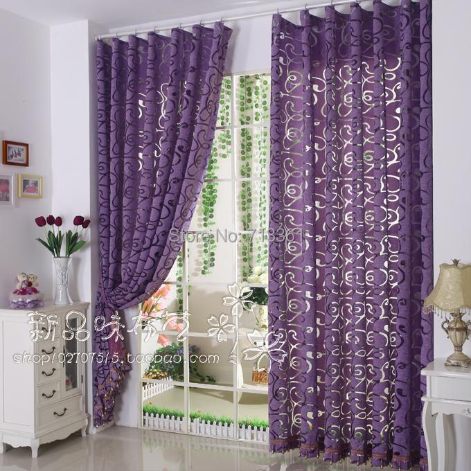 Morden Window Curtains For Living Room Bedroom Solid Color