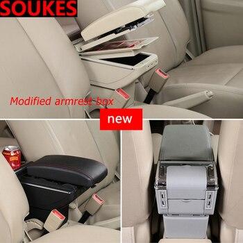 Car Modification Movable Center Console Armrest Box For Mitsubishi Lancer 10 ASX Pajero X Ford Focus 2 3 Fiesta Citroen C4 C5 C3
