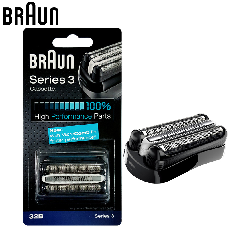 Braun 32B Shavers razor Replacement Cassette Parts Foil & Cutter (320 330 340 350CC 360 370 380 390CC 5774 5775 5776 cruZer6) braun 32s series 3 shaver foil and cutter head replacement cassette with microcomb 320 330 340 350cc 360 370 380 390cc 395cc
